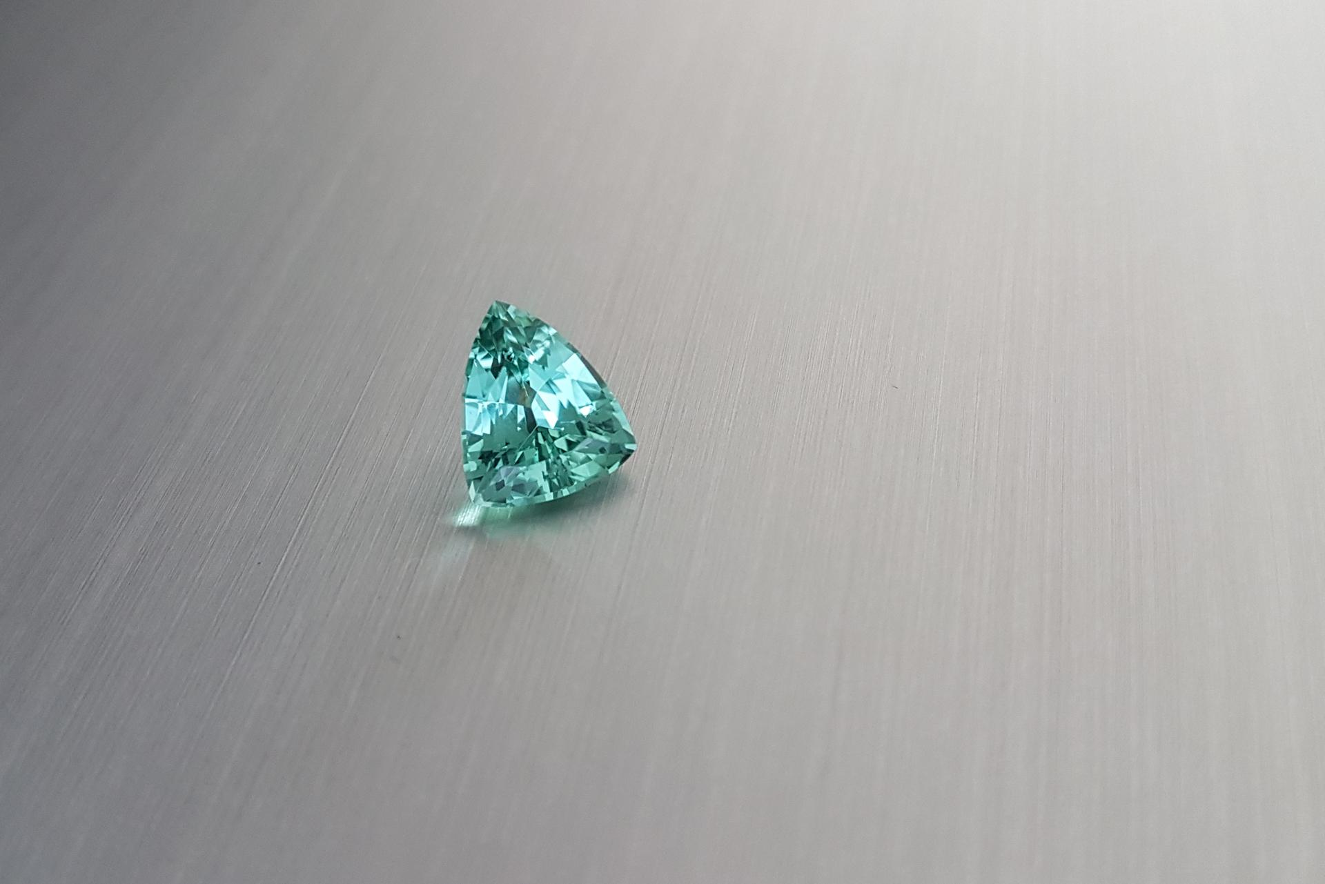 Intensly blue green coloured fancy cut tourmaline from Zylana gem collection